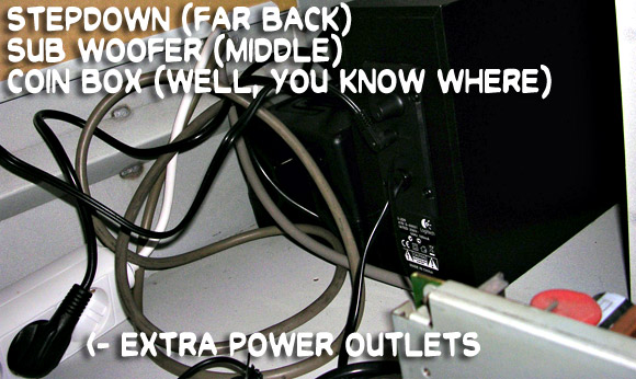 Extra power outlets, stepdown and sub woofer