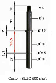 Blueprint for a custom SUZO 500 shaft